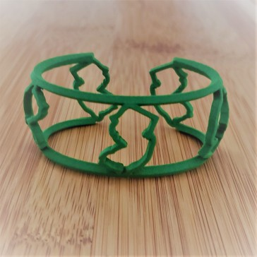 The NJ cuff in fun 3D printed plastic